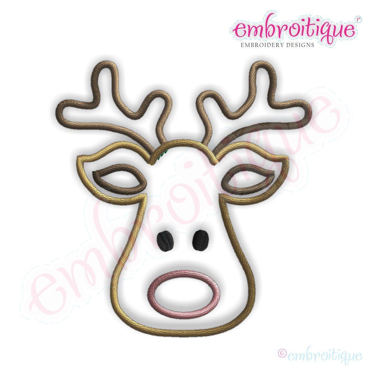 Rudolph Head Outline Clipart