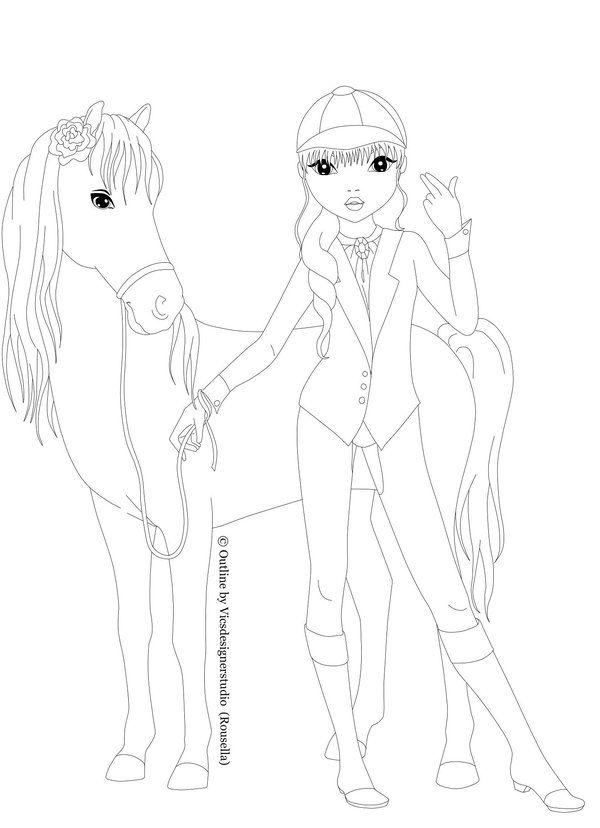 rider with horse by VicsDesignerStudio | Ausmalbilder Topmodel ...