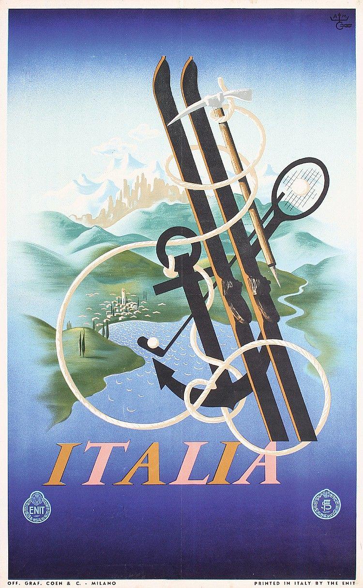 Cassandre-Italia-1998 Poster A.M