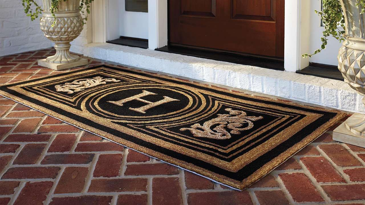 Wingate Monogrammed Entry Mat Frontgate Monogram Door Mat Door Mat Front Door Mats