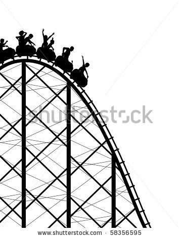 Silhouette Of A Steep Roller Coaster Ride Roller Coaster Drawing Roller Coaster Roller Coaster Ride