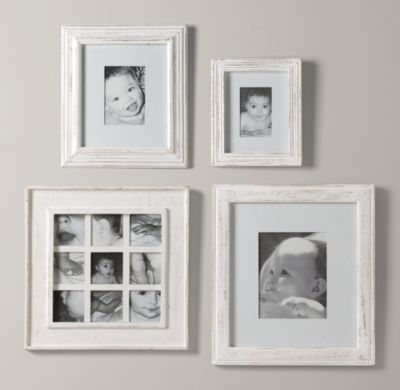weathered frames white frames for above changing table - Distressed White Picture Frames