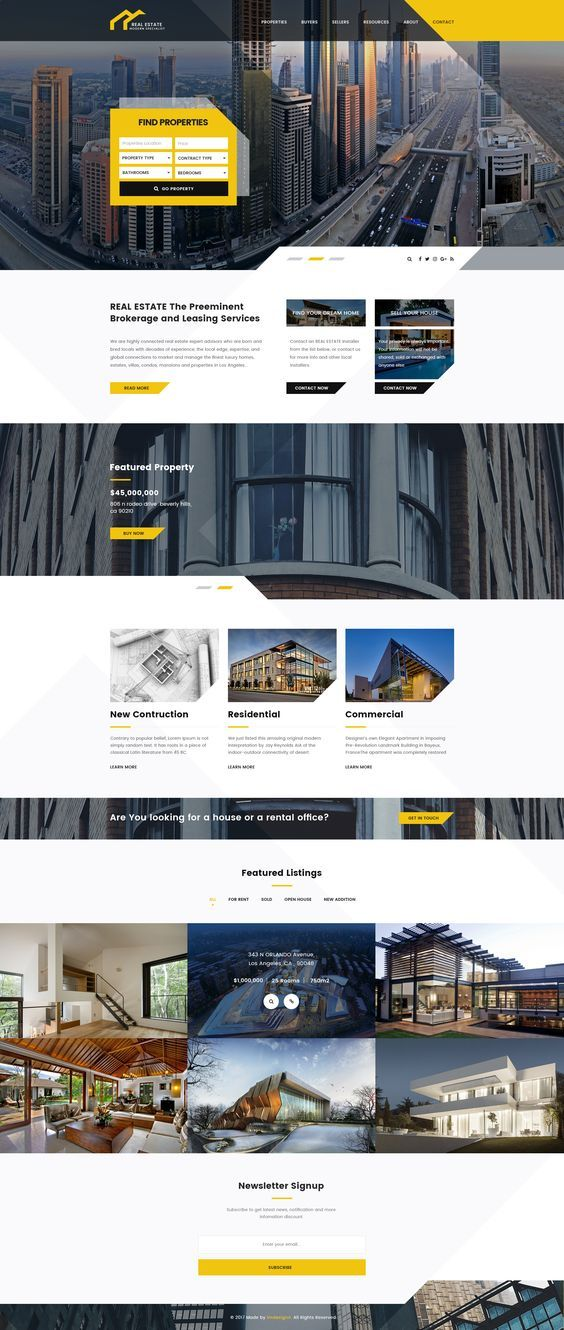 20 Free Premium PSD Website Templates