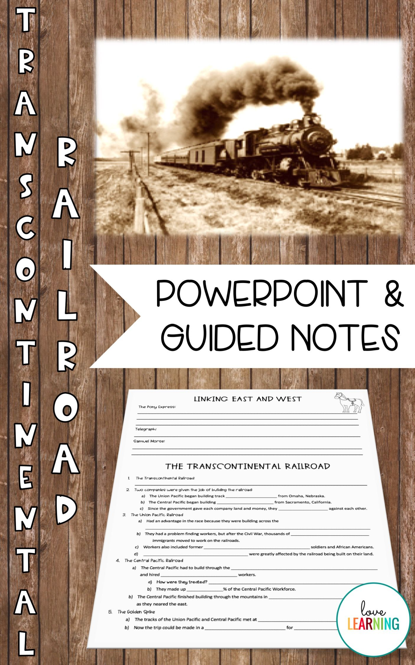 Westward Expansion Transcontinental Railroad Powerpoint