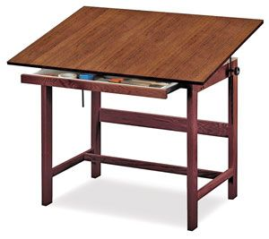 Titan Solid Oak Drafting Table Alvin® Titan Solid Oak Drafting Table( Drafting Height   X 60 X Attractive, Functional And Durable.