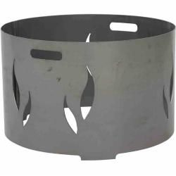 Photo of Fire bowl attachment – silver-anthracite – steel – 53 cm RollerRoller