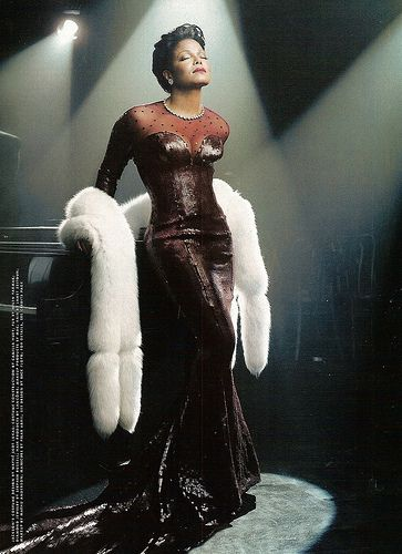 Janet Jackson in Gown as Lena Horne for Vanity Fair. Photography by Annie Leibovitz