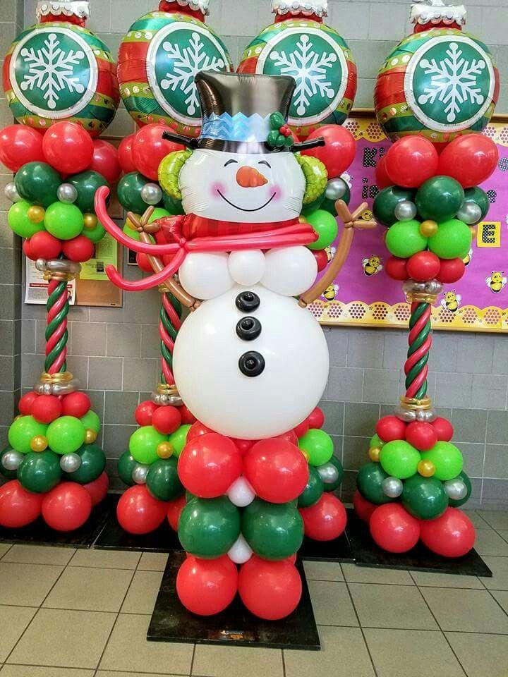 Pin By Monica Diaz On Christmas Balloon Decor Christmas Balloons Christmas Balloon Decorations Holiday Balloons