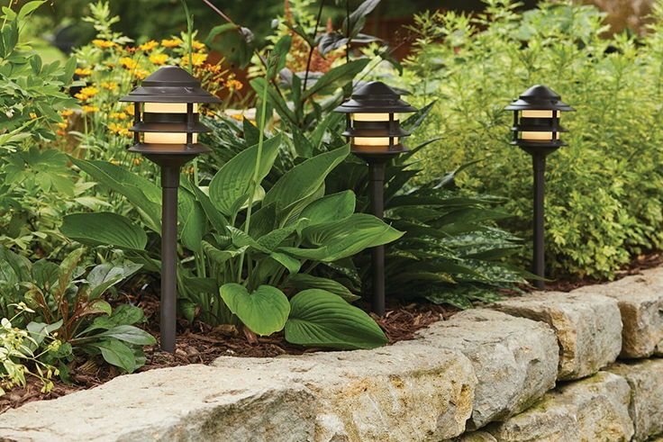 Light Your Garden Border Or Walkway With Landscape Lighting. QuickFIT  Pathway Lights