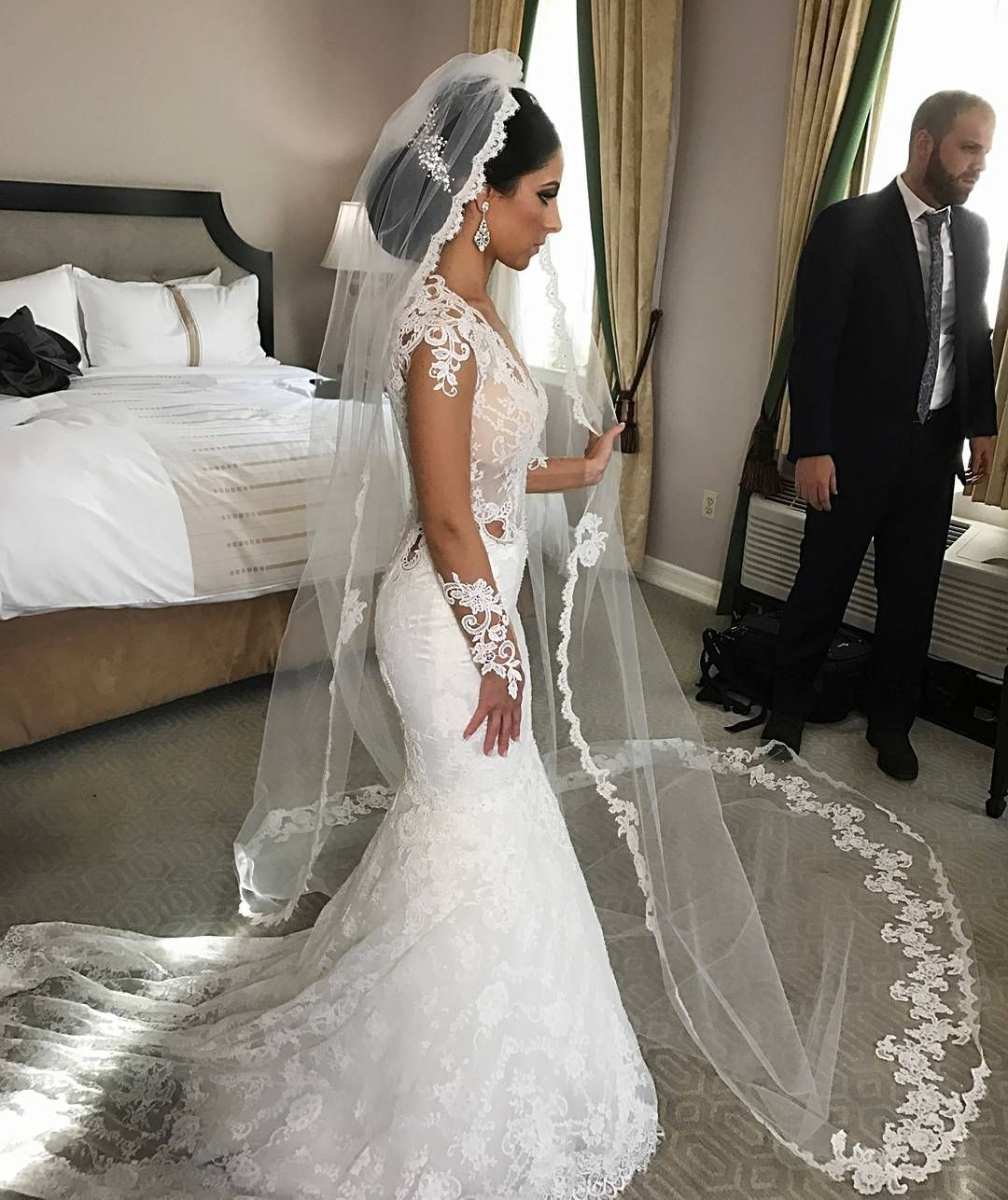 1000+ images about Beautiful Veils on Pinterest | Veils ... |Beautiful Wedding Gowns With Veils