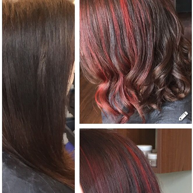 Textured lob with wella illumina rich red gold brown full colour and magma intense peaces also best images ash beauty makeover makeup rh pinterest