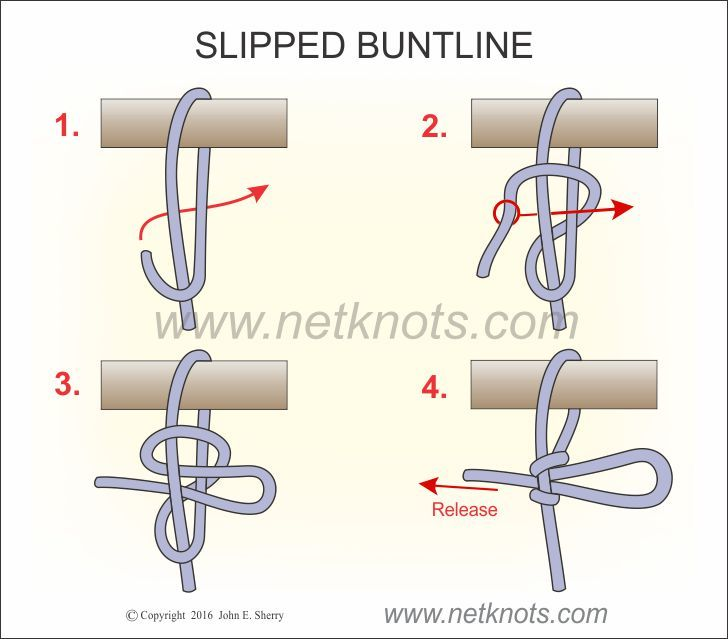 Slipped Buntline - How to tie a Slipped Buntline #ropeknots