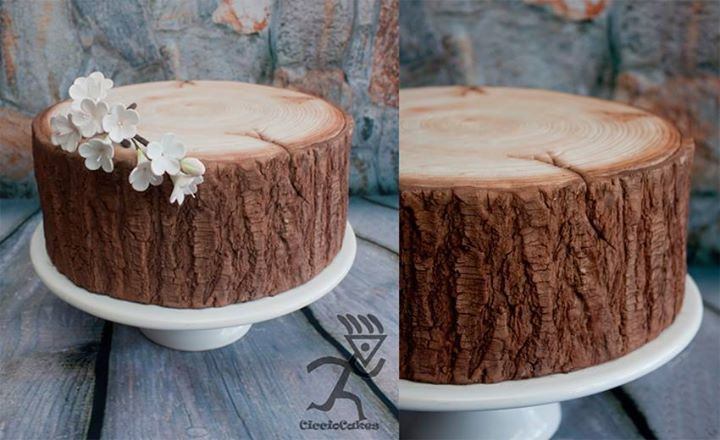 Realistic Wood Tree Stump Effect Tutorial By Ciccio Cakes