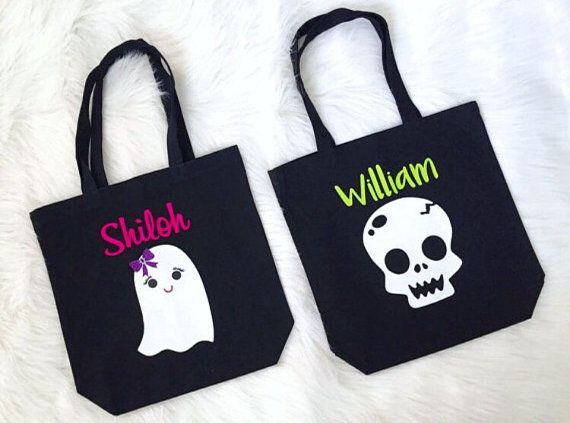 Kids Personalized Trick Or Treat Bag Tote The Perfect For Your Little One