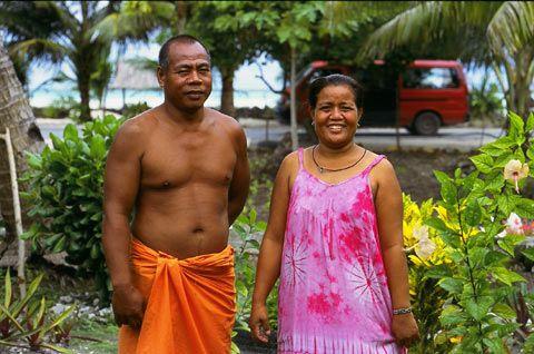 People of Kiribati in traditional clothing. | Kiribati, Big oil, Kiribati island