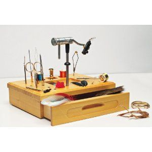 Fancy Wetfly Wooden Fly Tying Station with Tools for on the go