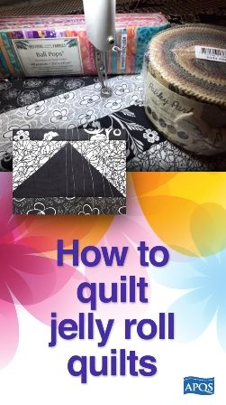 How to quilt jelly roll quilts #jellyrollquilts