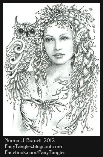 Zentangle Fairies/Norma J Burnell | Here\'s a new ACEO, micron pen ...