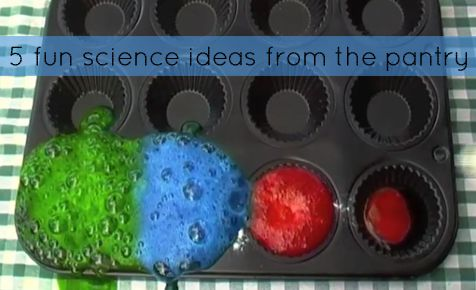 5 fun science ideas from the pantry
