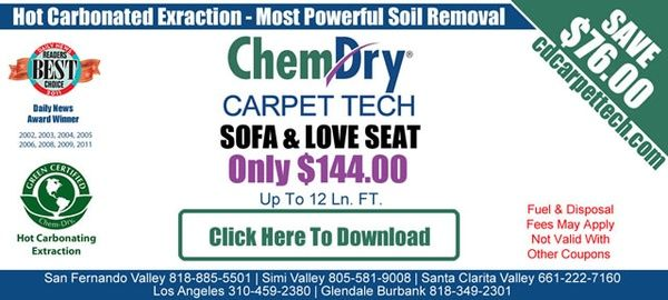 Chem Dry Sofa Love Seat Upholstery Cleaning For Only 144 00 Los Angeles Carpet Cleaning Coupons Chem Dry How To Clean Carpet Cleaning Upholstery