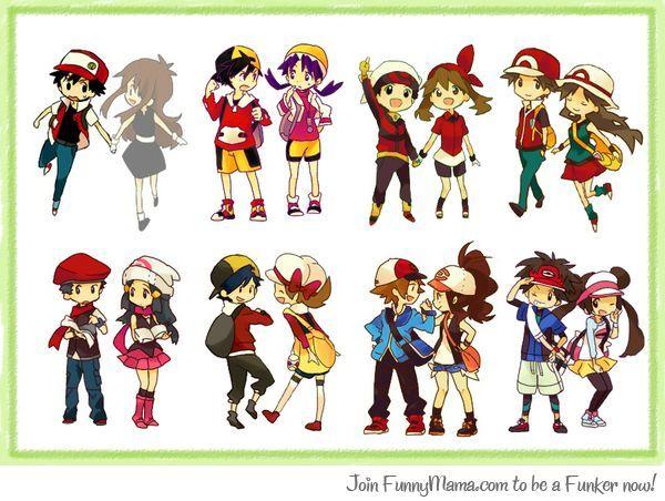 pokemon trainer couple gotta catch em all pinterest pokémon