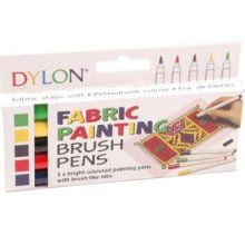 Pk of 5 Dylon Fabric Pens for Fabric Bright Colours Fabric Marker Pens £3