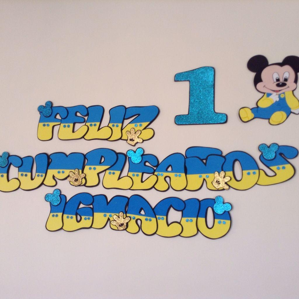 Letrero Mickey Bebe