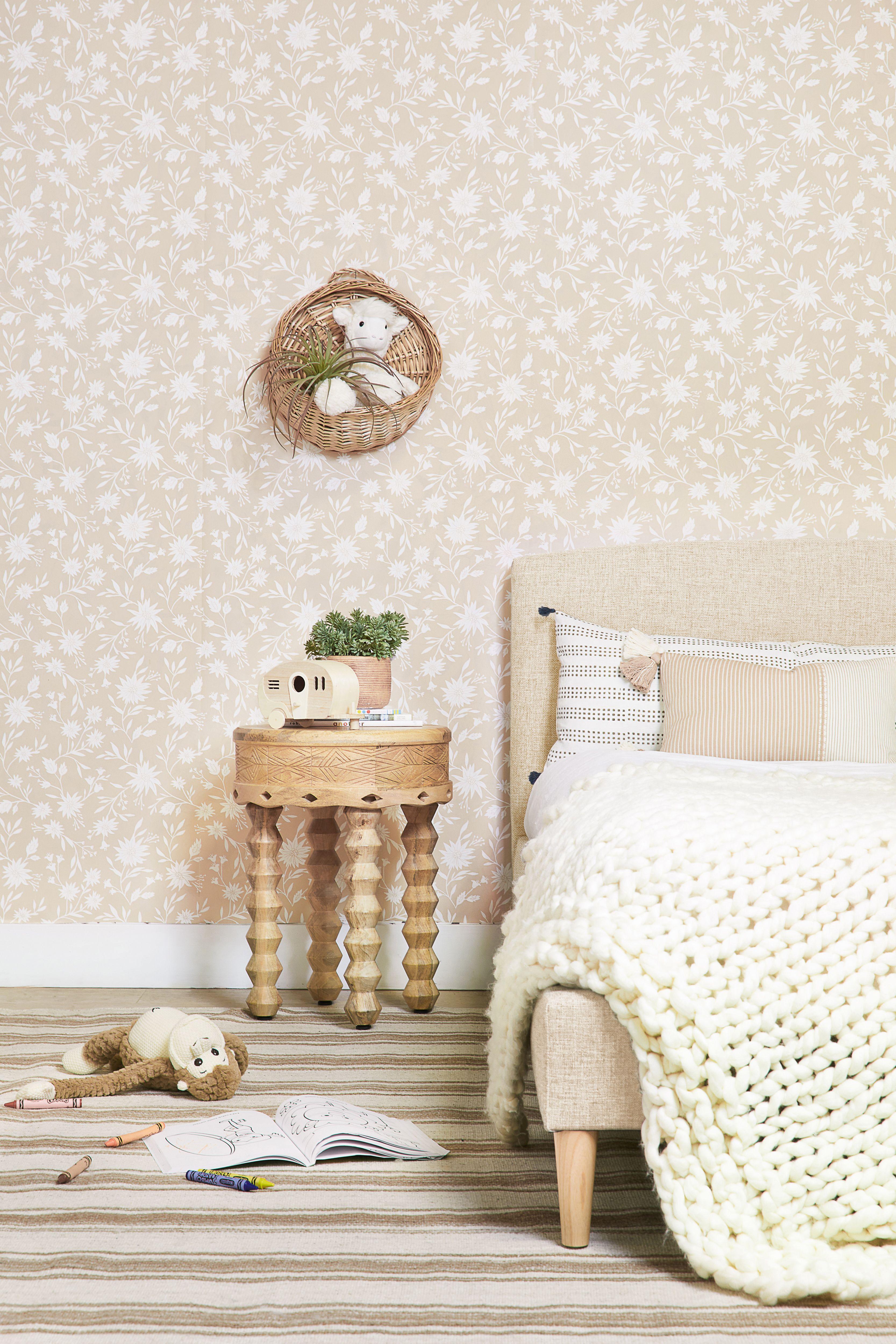 Rylee + Cru Floral Wallpaper wallpaper, Velvet