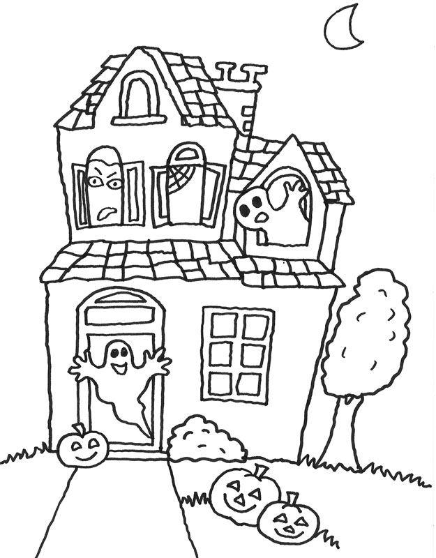 gruselige halloween ausmalbilder – Ausmalbilder für kinder | Schule ...