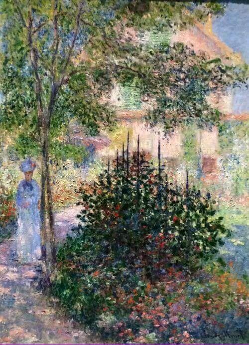 Claude Monet, Camille Monet in the Garden at Argenteuil (1876)