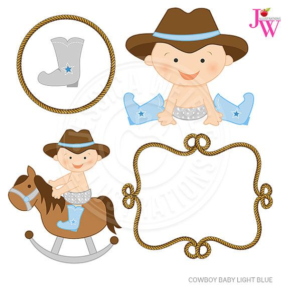 light blue cowboy baby cute digital clipart cute baby cowboy clip rh pinterest com baby cowboy clip art free baby cowboy clipart standing