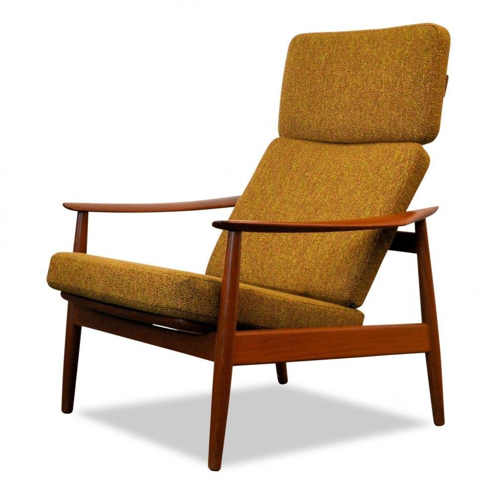 danish design arne vodder fd 164 teak lounge chair design 1