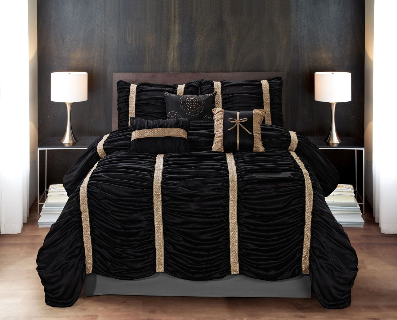 7 Piece Baraniece Blackgold Comforter Set Decor Bedding In 2019
