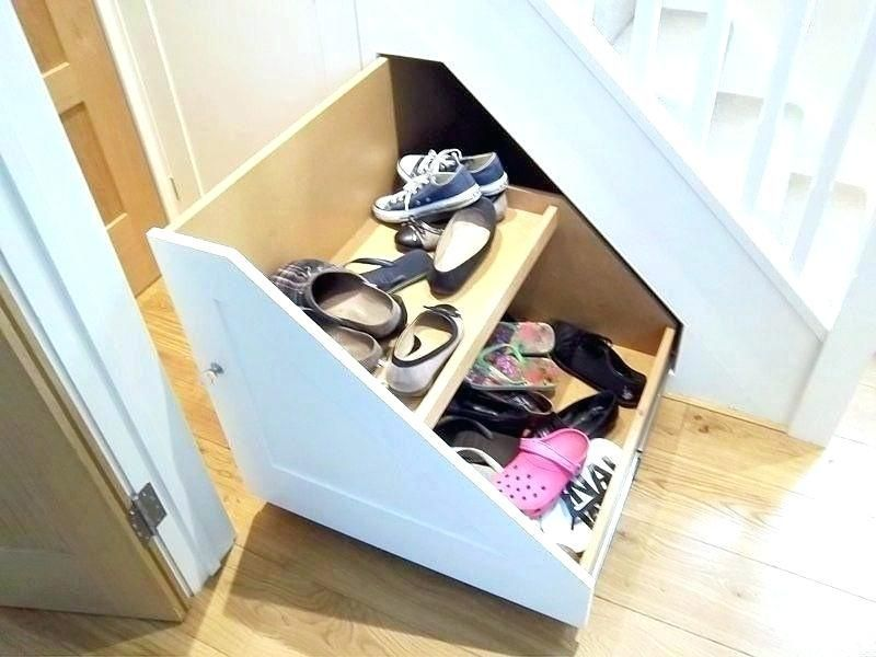 Stair Shoe Storage Under A Staircase Frame Staircase Frame