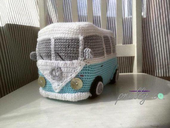 VW Camper Van gehäkelt, häkeln, Auto, Kinderzimmer