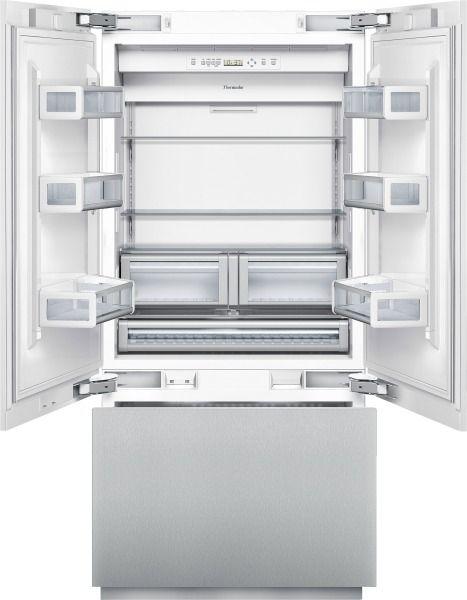 Thermador French Door, Freezer Bottom 36 Inch Built In French Door  Bottom Freezer T36IT800NP