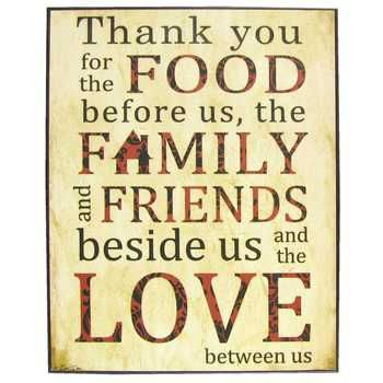 Thank You for the Food Plaque | Things for the house... | Things for ...