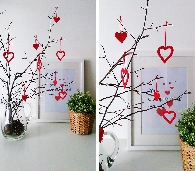 Ramas secas decoradas para un san valentin lowcost diy for Decoracion san valentin pinterest