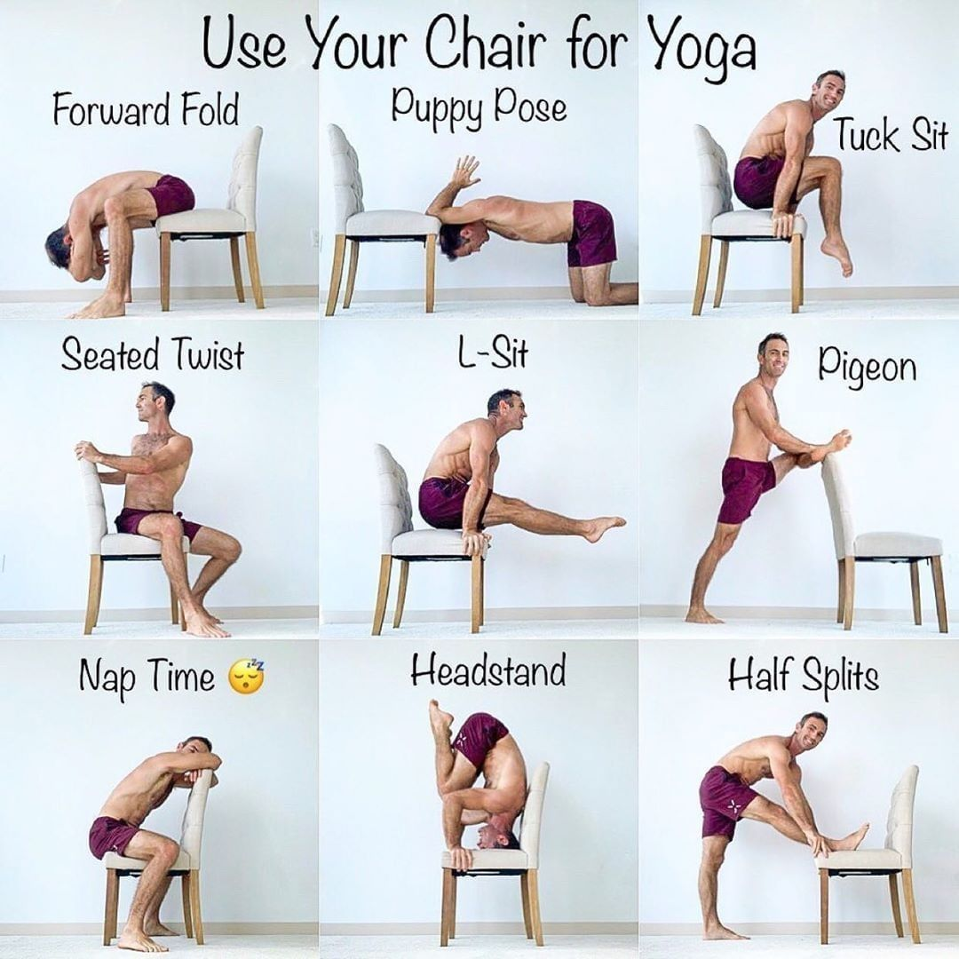 Yoga Tips On Instagram Try These Chair Yoga Poses Out The Next Time You Re Sitting In A Chair What Chair Pose Yoga Yoga Poses Yoga Poses For Beginners
