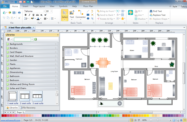 Floor Plan Design Software Helps You Draw The Plan Of Your House And Arrange Furniture On It With Flo Floor Planner Floor Plan Design Interior Design Software