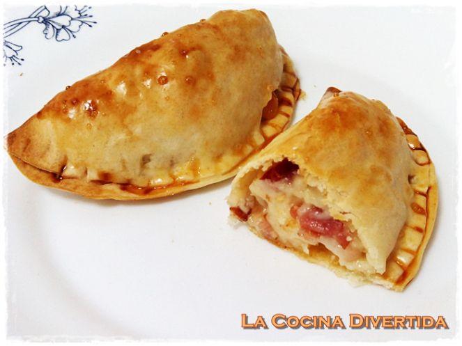 Empanadillas al horno con bacon y queso curado de Zamora