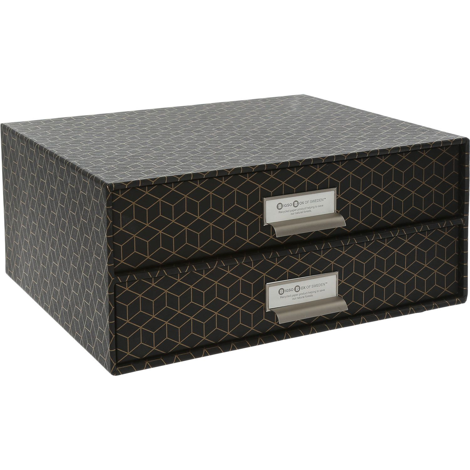 Bigso Box Of Sweden Black Gold Geometric Pattern Box Tk Maxx