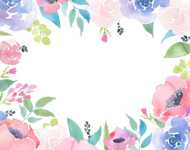 Floral frame clipart flower arrangement premade invites
