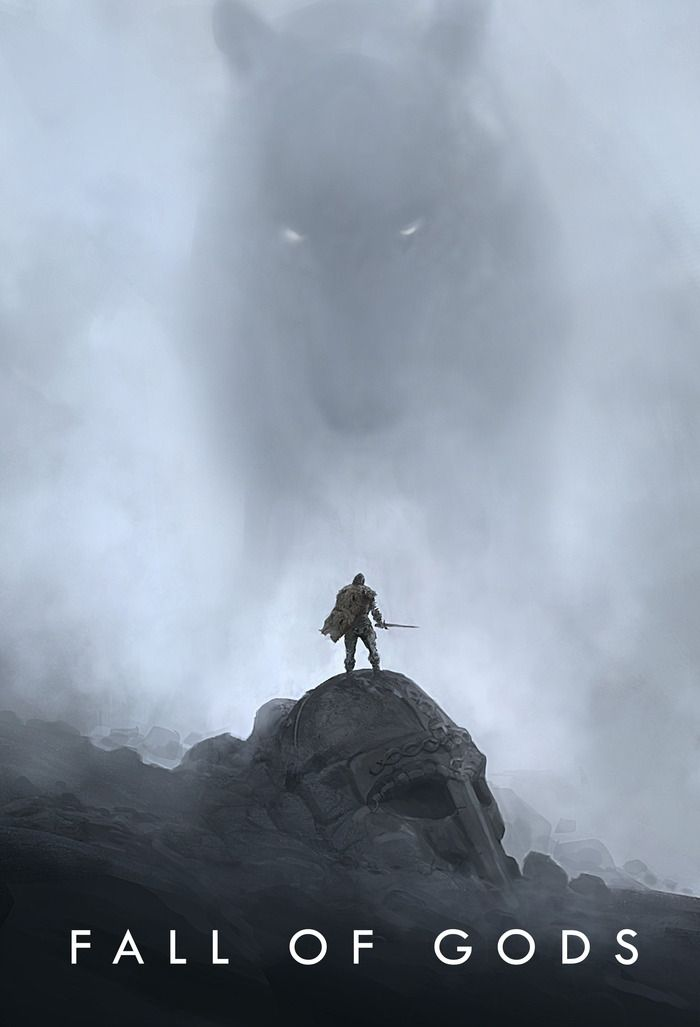 Fall of Gods, by MOOD, Copenhagen. Beautiful concept art book illustrating a story based in Norse mythology.