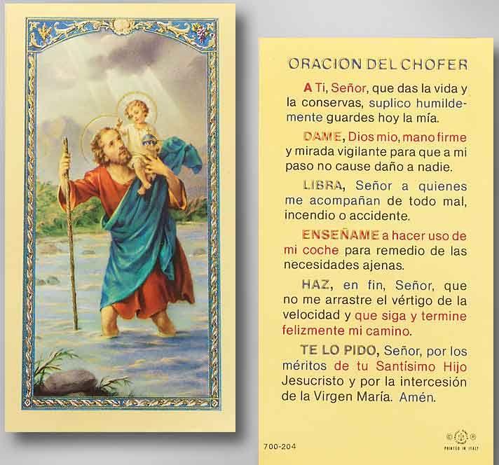 Safe Travels Prayer In Spanish