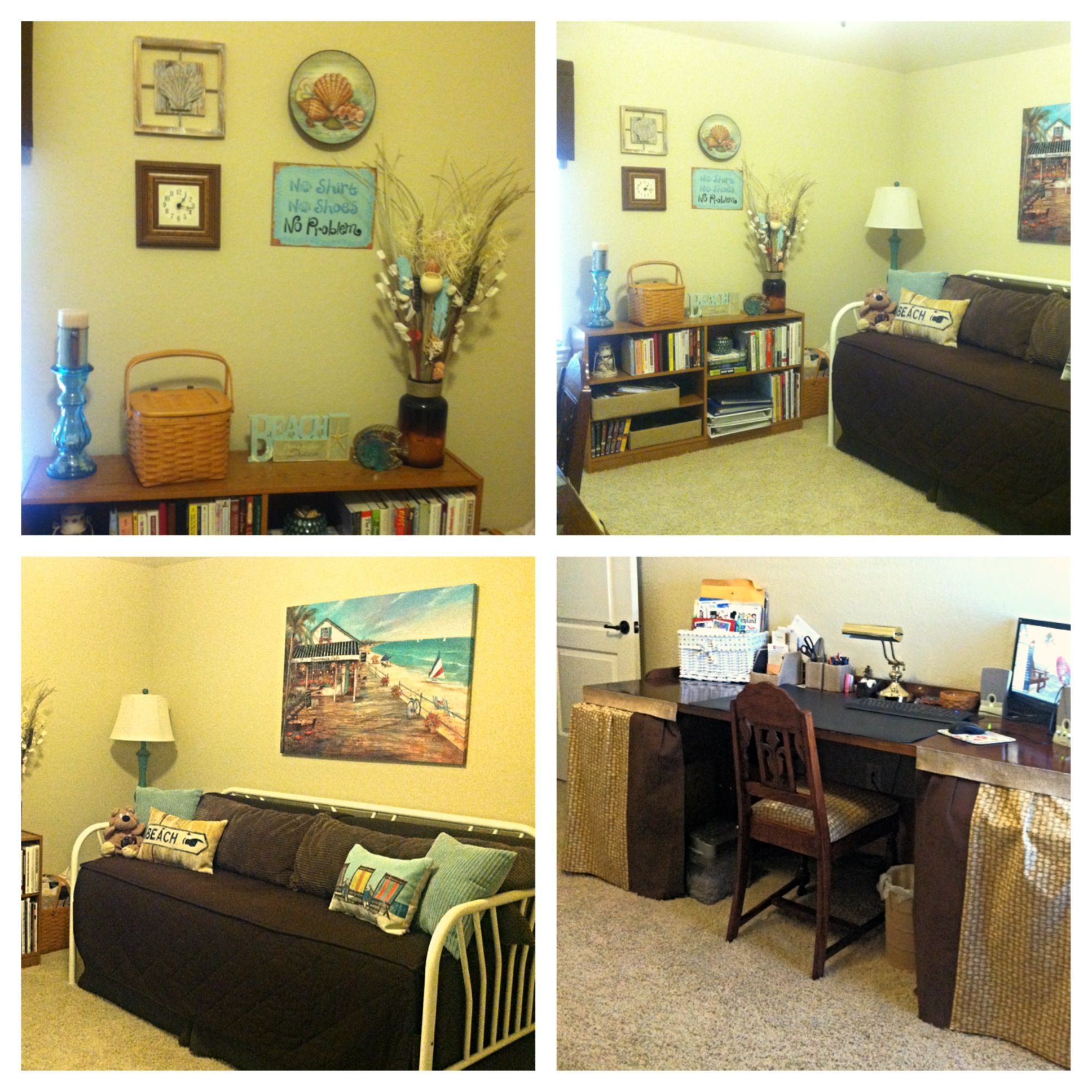 Beach Themed Home Office Guest Room With Images Guest Room