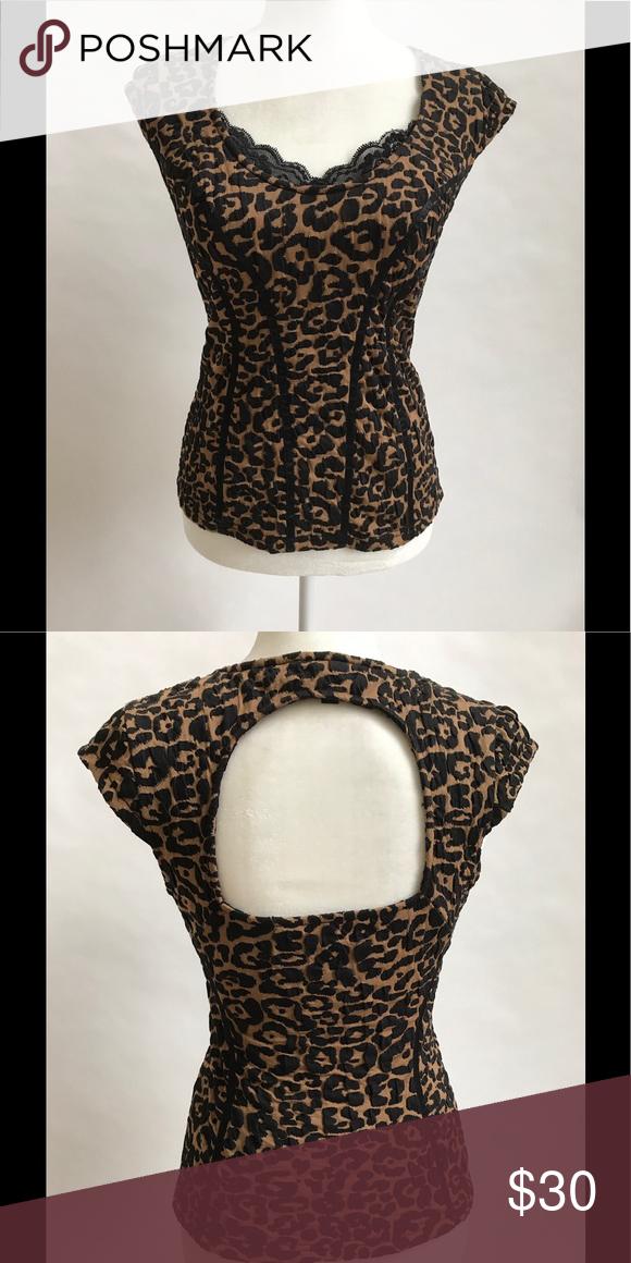 291a8b7695 Leopard Print Guess Top