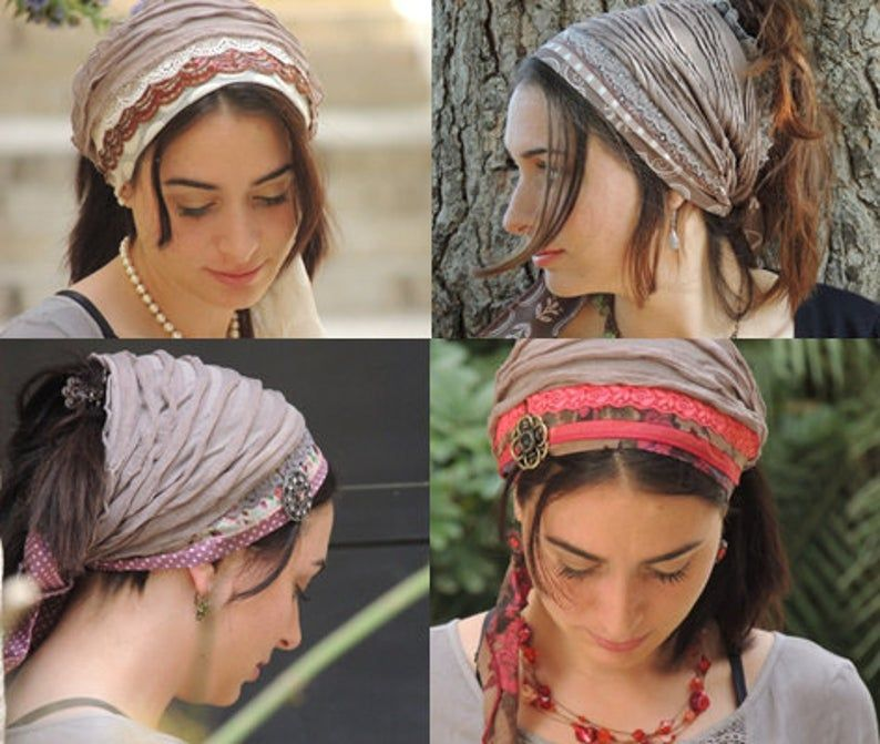 How To Sew Your Ruffle Headband Bandana Tichel Pat