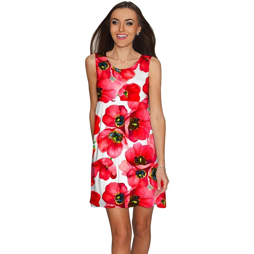 Tulip salsa sanibel empire waist red summer dress women products