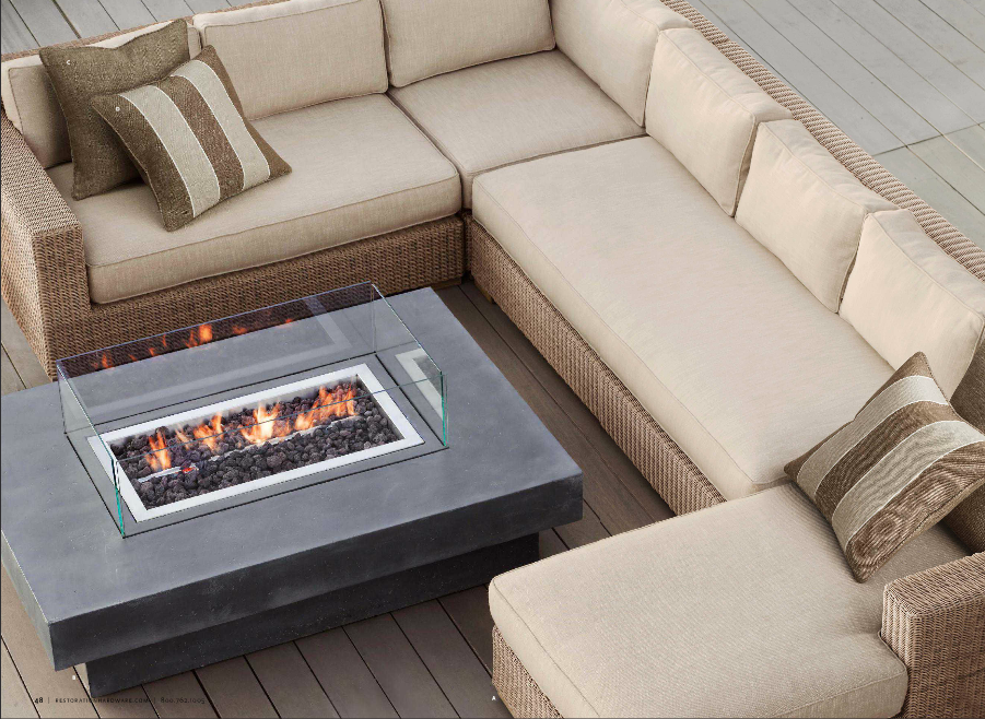 Awesome deck firepit